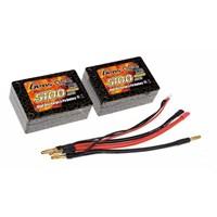 Gens Ace 5100Mah 7.4V 25C 2S3p Hardcase Lipo Batarya