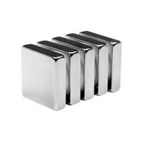 Neodyum Mıknatıs Blok 20x20x5 mm (4lü Paket)
