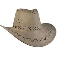 Pandoli Yetişkin Nubuk Kovboy Şapkası Krem Renk