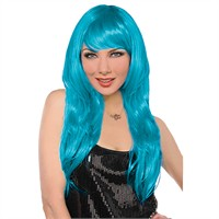 KullanAtMarket Mavi Uzun Peruk