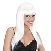 KullanAtMarket Beyaz Uzun Peruk