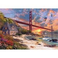 Ks Games 500 Parça Puzzle : Günbatımı Ve Golden Gate Köprüsü