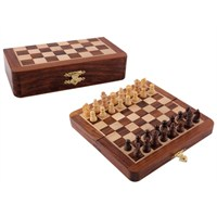 "Yeni Satranç 7"" (18x18 cm) Ahşap Mıknatıslı Satranç Takımı"