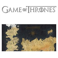 Sd Toys Game Of Thrones: Westeros Map Glass Poster