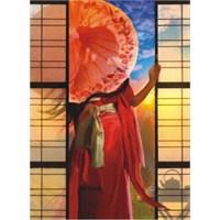 Kırmızılı Kadın (1000 Parça)