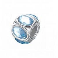 Angemiel Yuvarlak Mavi Kristal Figürlü Gümüş Charm İle Kendi Tarzını Yarat