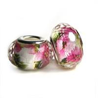 Angemiel Pembe Çiçekli Cam Murano Charm İle Kendi Tarzını Yarat