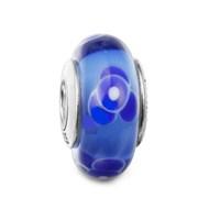 Angemiel Mavi Çiçekli Gümüş Murano Charm İle Kendi Tarzını Yarat