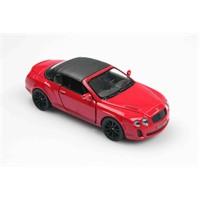Kırmızı 2010 Bentley Continental Supersports Convertible 1/38 Çek Bırak Die-Cast Model Araç