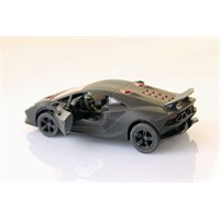Siyah Lamborghini Sesto Elemento 1/38 Çek Bırak Die-Cast Model Araç