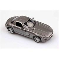 Füme Mercedes-Benz Sls Amg 1/36 Çek Bırak Die-Cast Model Araç
