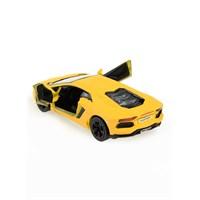 Lamborghini Aventador Lp700-4 Çek Bırak 1/38 Die Cast Model Araç