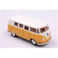 Sarı 1962 Volkswagen Classical Bus 1/32 Çek Bırak Die-Cast Model Araç