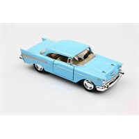 Mavi 1957 Chevrolet Bel Air 1/40 Çek Bırak Die-Cast Model Araç