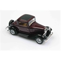 Bordo 1932 Ford 3 Window Coupe 1/34 Çek Bırak Die-Cast Model Araç