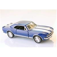 Mavi 1967 Camaro Z-28 1/37 Çek Bırak Die-Cast Model Araç