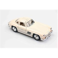 Beyaz 1954 Mercedes-Benz 300 Sl 1/36 Çek Bırak Die-Cast Model Araç