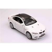 Beyaz 2009 Bmw M3 Coupe 1/36 Çek Bırak Die-Cast Model Araç