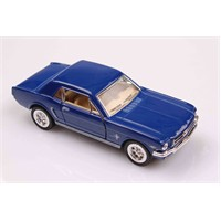 Mavi 1964 1/2 Ford Mustang 1/36 Çek Bırak Die-Cast Model Araç