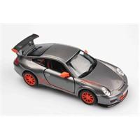 Gri 2010 Porsche 911 Gt3 Rs 1/36 Çek Bırak Die-Cast Model Araç