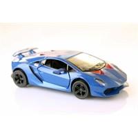 Mavi Lamborghini Sesto Elemento 1/38 Çek Bırak Die-Cast Model Araç