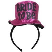 Pandoli Bride To Be Yazılı Şapka Model Taç Fuşya