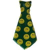 Pandoli Gülümseyen Yüz Smile Desenli Plastik Yeşil Kravat