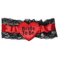 Pandoli Kırmızı Renkli Bride To Be Bacak Bandı