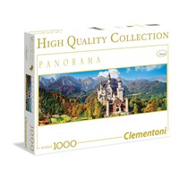 Clementoni Puzzle 1000 Parça Panaroma - Neuschwanstein