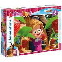 Masha And The Bear 24 Parça Maxi Çocuk Puzzle (Clementoni 24034)