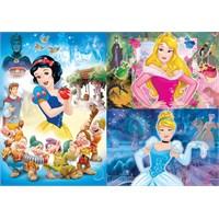 Disney Prensesleri 3 X 48 Parça Kız Çocuk Yapboz
