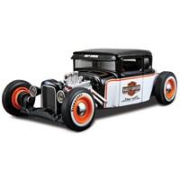 Maisto 1:24 1929 Ford Model Araba Harley Davidson Siyah-Beyaz