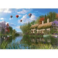 Ks Games 1000 Parça Old River Cottage Puzzle
