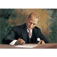 Art Puzzle 1000 Parça Atatürk Çankaya Köşkü'nde Çalışırken