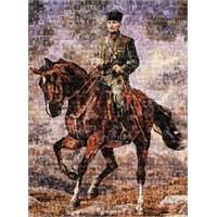 Art Puzzle 1000 Parça Puzzle Gazi Mustafa Kemal Sakarya İsimli Atıyla Kolaj