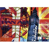 Schmidt Puzzle 1000 Parça Fly to London PanAm
