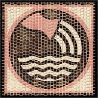Mozaik Burçlar Serisi Kova