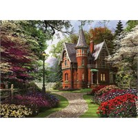 Ks Games 2000 Parça Puzzle Victorian Cottage İn Bloom