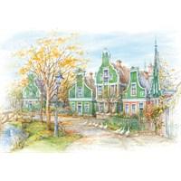 Castorland Zaanse Schans, Holland 1500 Parça Puzzle