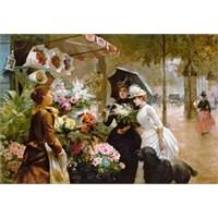 Castorland 1000 Parça Puzzle Copy Of Flower Stand İn Paris