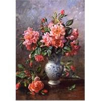 Castorland Still Life Roses İn China Vase 1000 Parça Puzzle