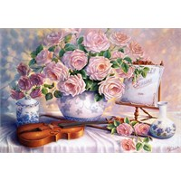 Castorland 3000 Parça Puzzle Roses For The Soiree Trisha Hardwick