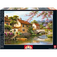 Educa Puzzle 1500 Parça Köydeki Kanal