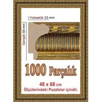 Heidi Sarı Renk Puzzle Çerçevesi 1000 Parça 68 X 48 Cm