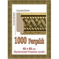 Heidi Gold Puzzle Çerçevesi 1000 Parça İçin 68 X 48 Cm