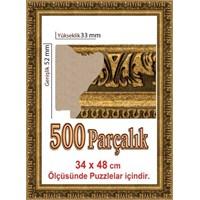 Heidi Puzzle Çerçevesi Gold 500 Lük Polistiren 48 X 34 Cm