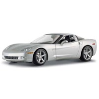 Maisto Chevrolet Corvette Coupe 2005 Model Araba 1:18 S/E Gümüş