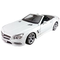 Maisto 2012 Mercedes-Benz Sl 500 Convertible Diecast Model Araba 1:18 Special Edition Beyaz