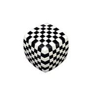 V-Cube 7 Illusion Siyah-Beyaz