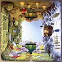 Schmidt 1000 Parça Kare Puzzle The Four Seasons Garden